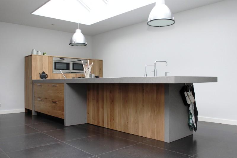 Modern eiken keuken handgemaakte houten keukens van
